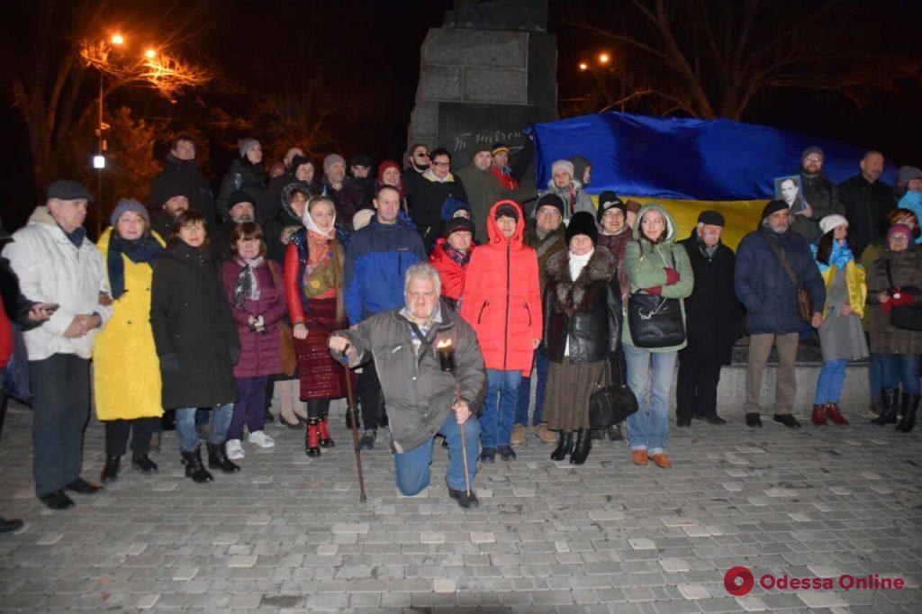В Одессе отмечали день рождения Степана Бандеры (фото, видео)