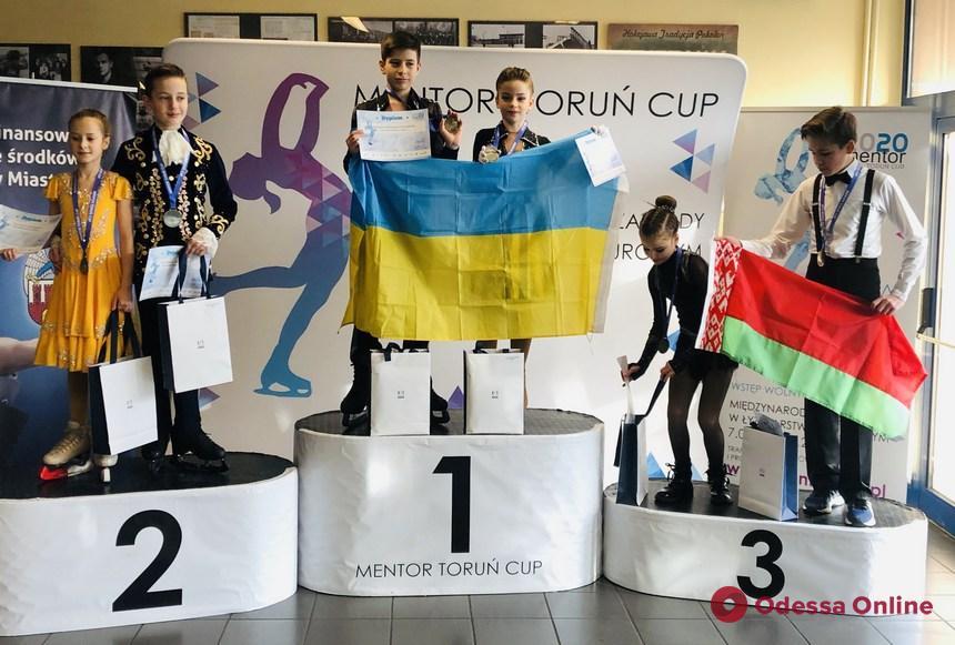 Одесские фигуристы завоевали медали международного турнира в Польше
