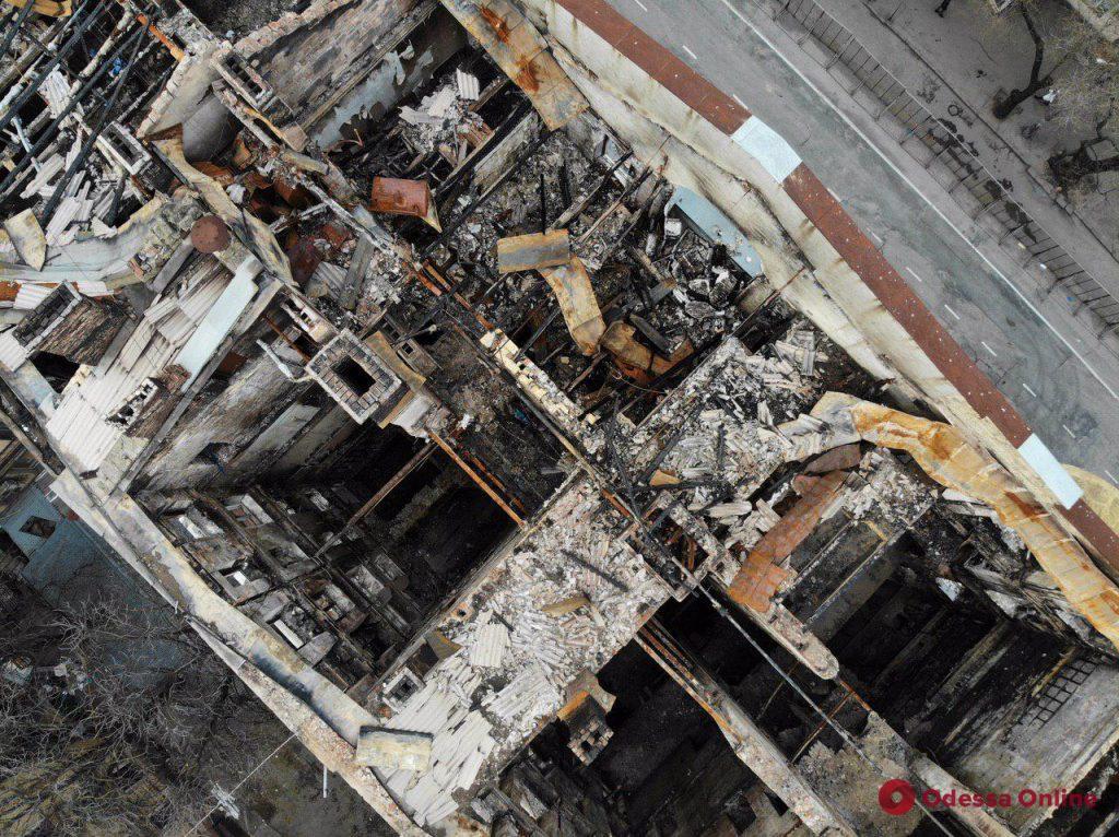 Сгоревший одесский колледж законсервируют