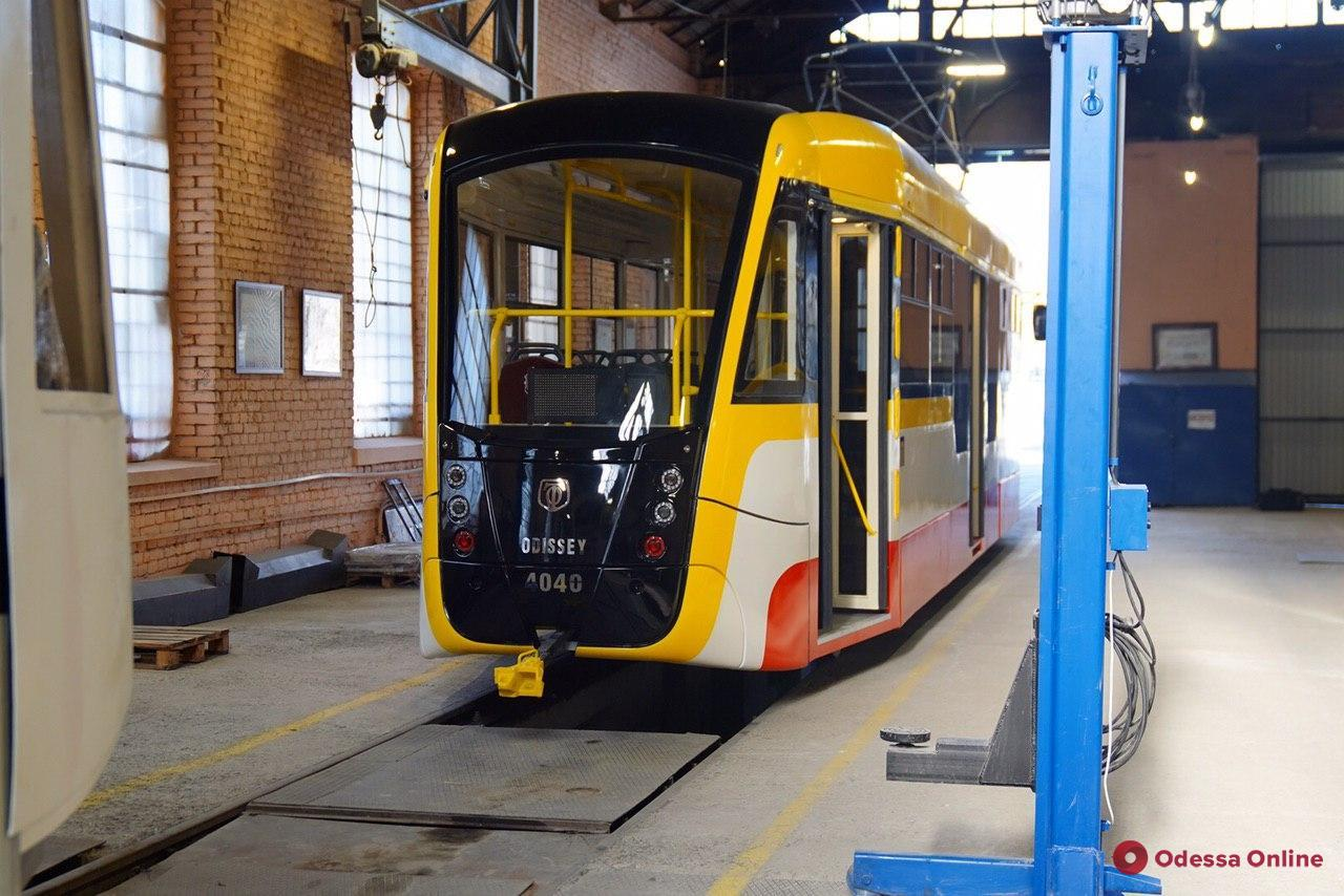 В мастерских «Одесгорэлектротранса» готовят к выпуску шестой трамвай Odissey (фото)