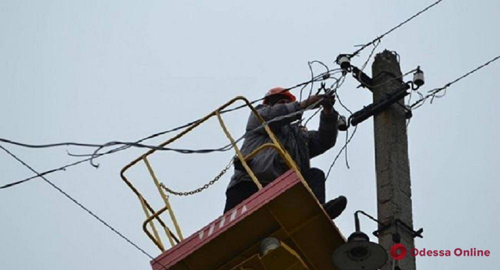 В Одесской области обесточены 124 населенных пункта