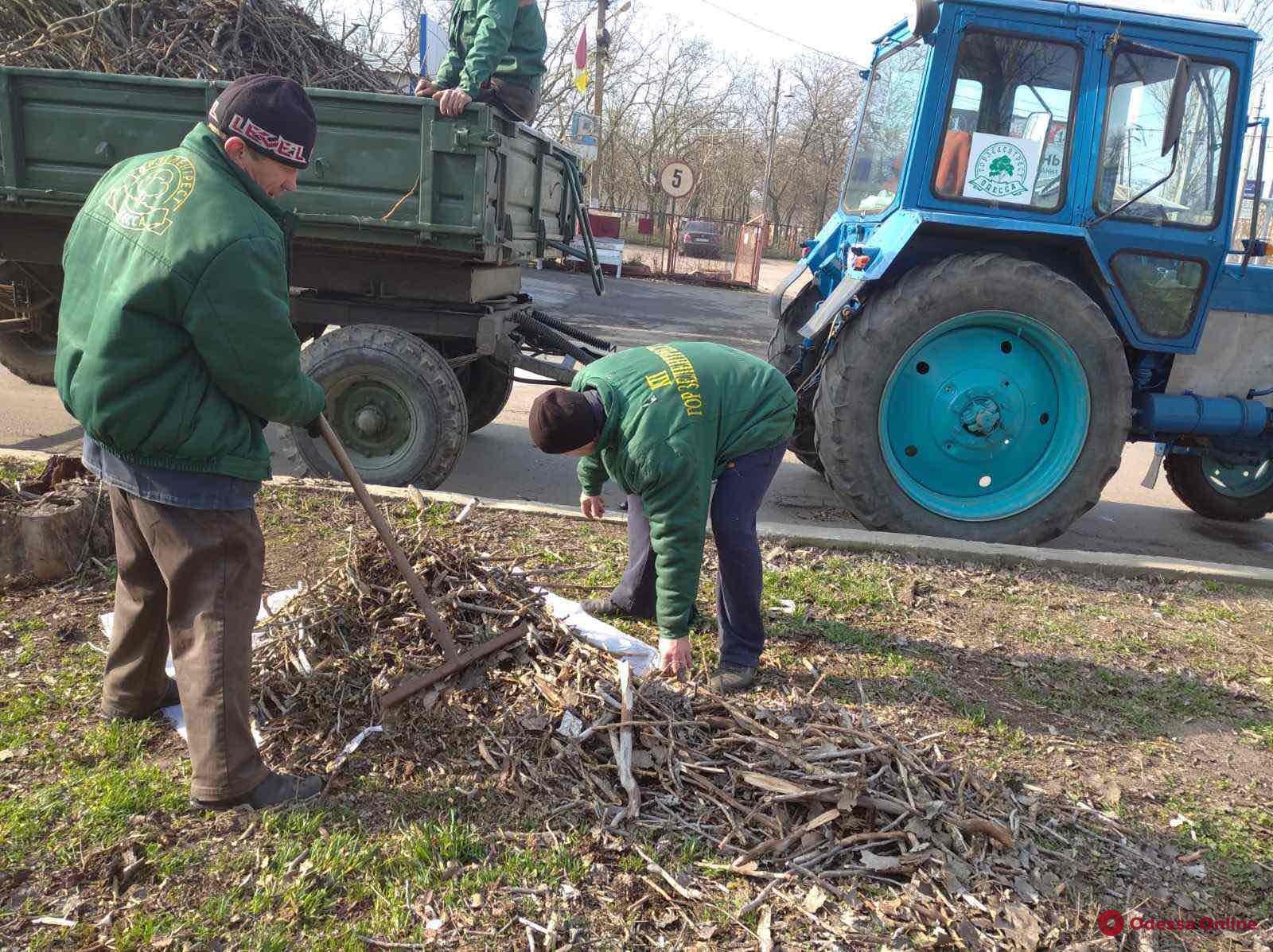 Одесские коммунальщики провели генеральную уборку въездов в город