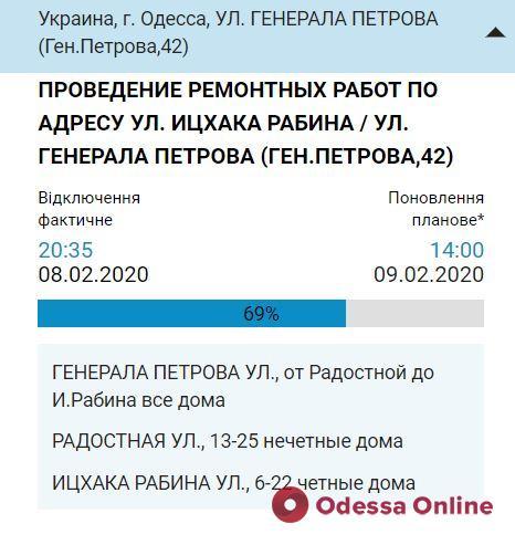 Воду на одесских «Черемушках» обещают включить в 14.00