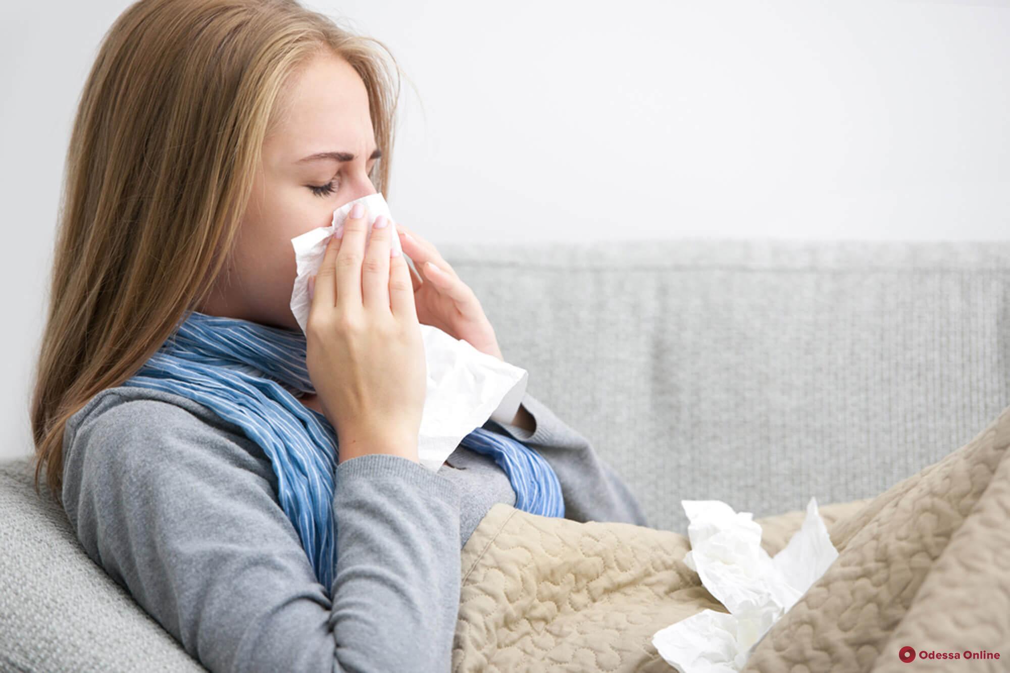 В Одессе на 29,5% превышен эпидпорог по гриппу и ОРВИ