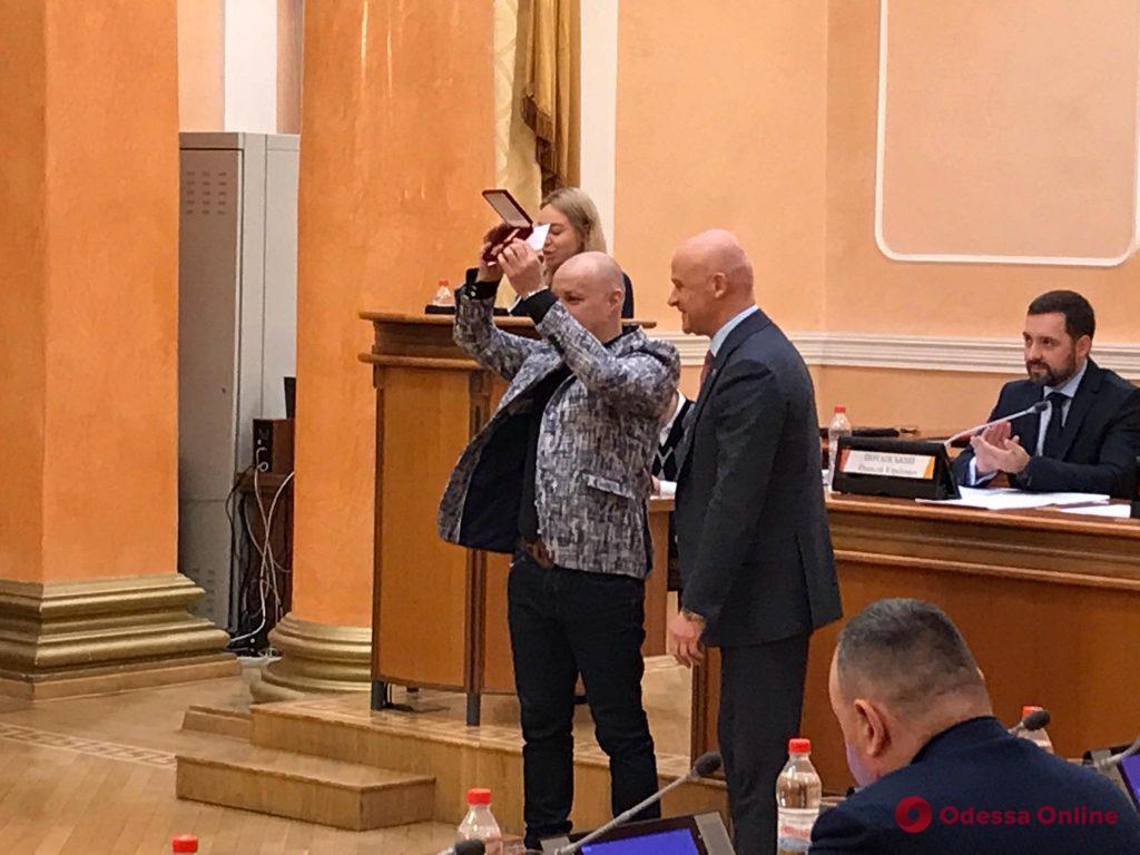 Мэр Одессы вручил Георгию Делиеву почетный знак отличия (фото)