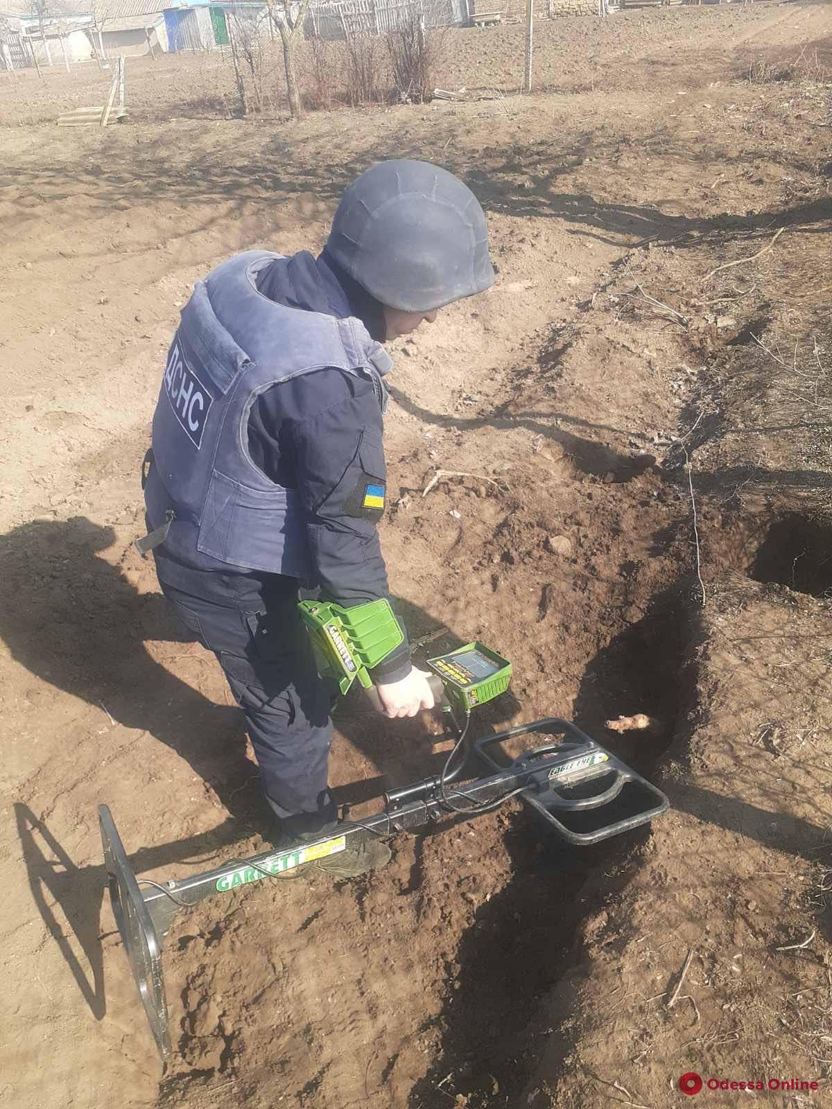 Житель Одесской области нашел у себя на огороде сотню гранат