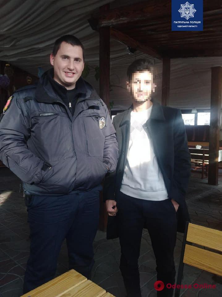 Одесские патрульные нашли родных потерявшегося сирийца