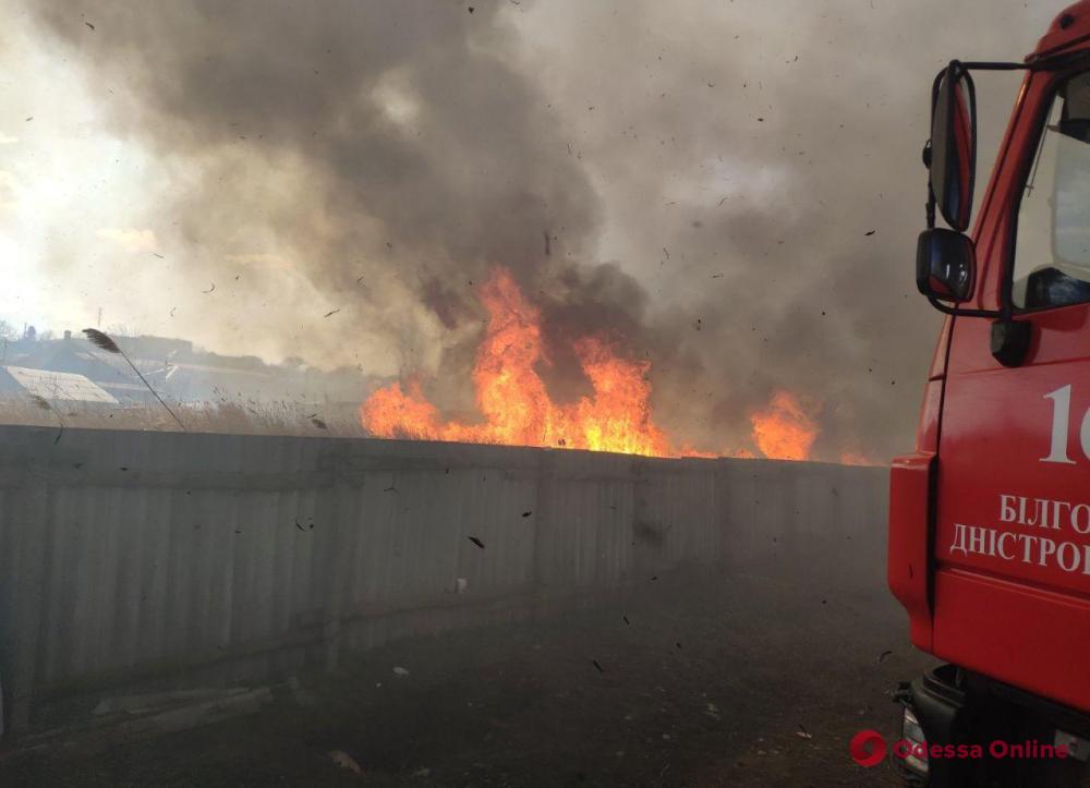 В частном секторе Аккермана предотвратили масштабный пожар