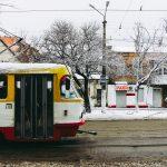погода снег трамвай