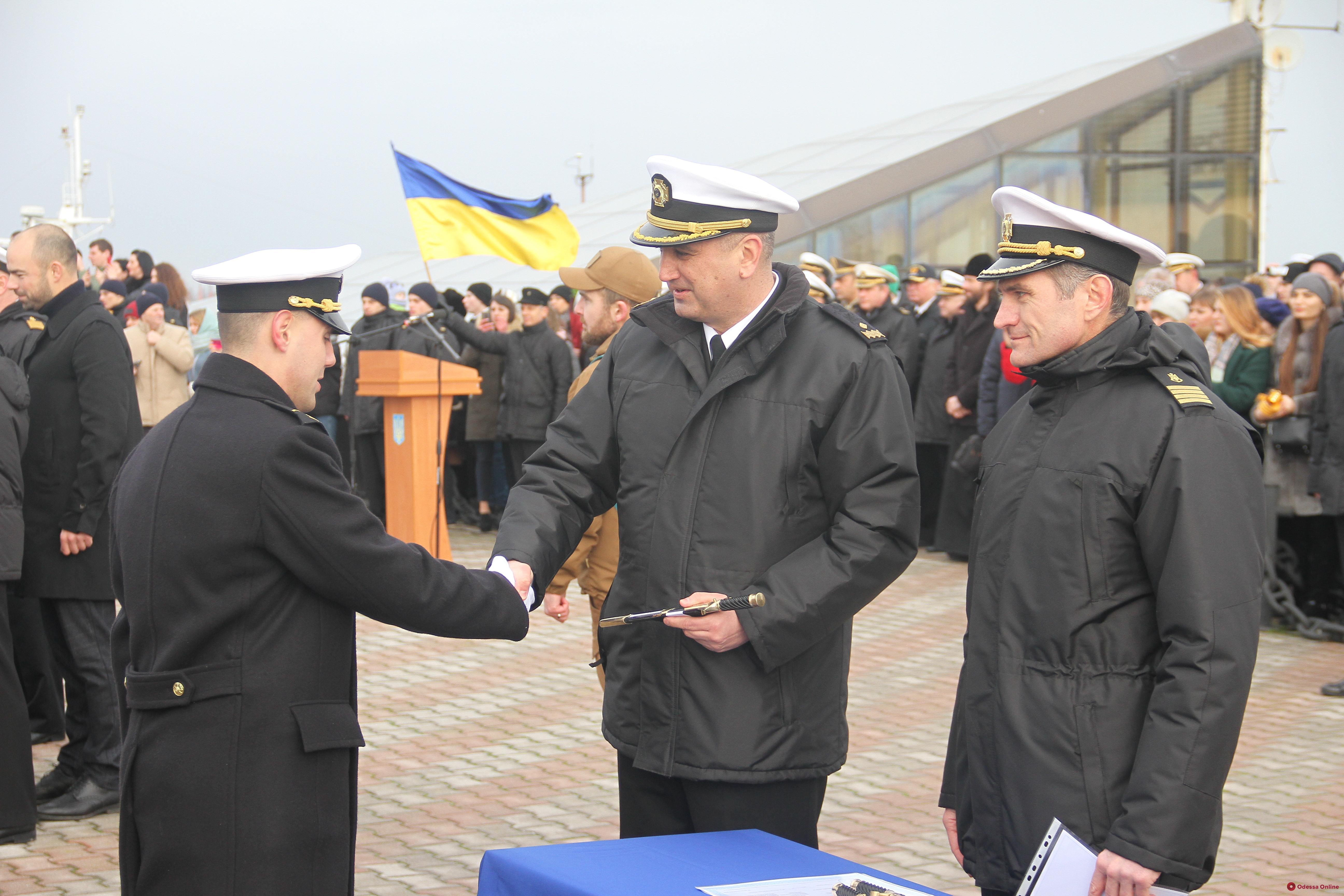 В Одессе прошла церемония выпуска лейтенантов Военно-морских сил (фото)