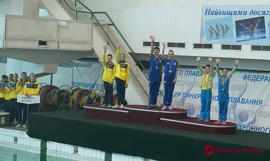 Одесская пара завоевала два «золота» чемпионата Украины по артистическому плаванию