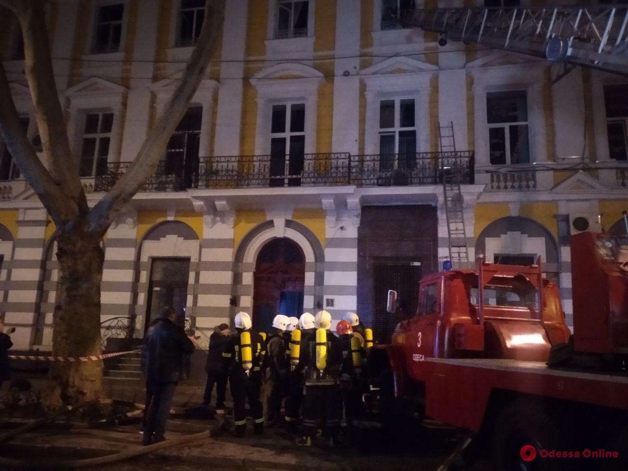 Полиция расследует обстоятельства пожара в доме Переца на Пушкинской