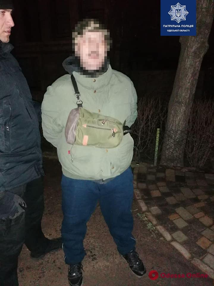 В Одессе поймали велосипедиста-закладчика