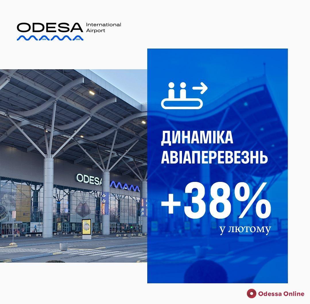 Одесский аэропорт увеличил пассажиропоток на 40%