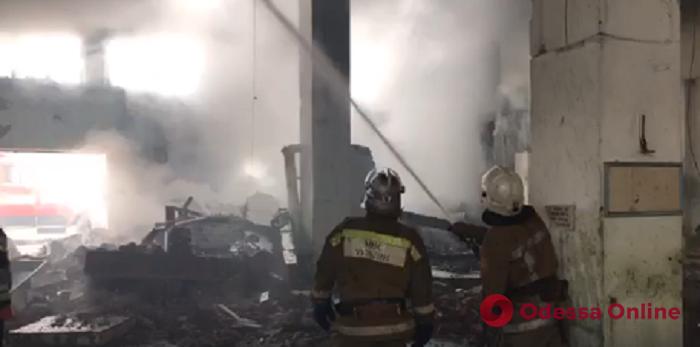 В Белгороде-Днестровском тушили пожар на заброшенном рыбном заводе (видео)