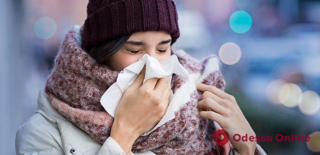 В Одессе на 21% превышен эпидпорог по гриппу и ОРВИ