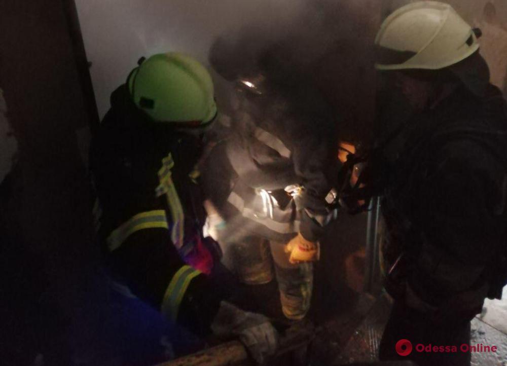 В центре Одессы горела квартира