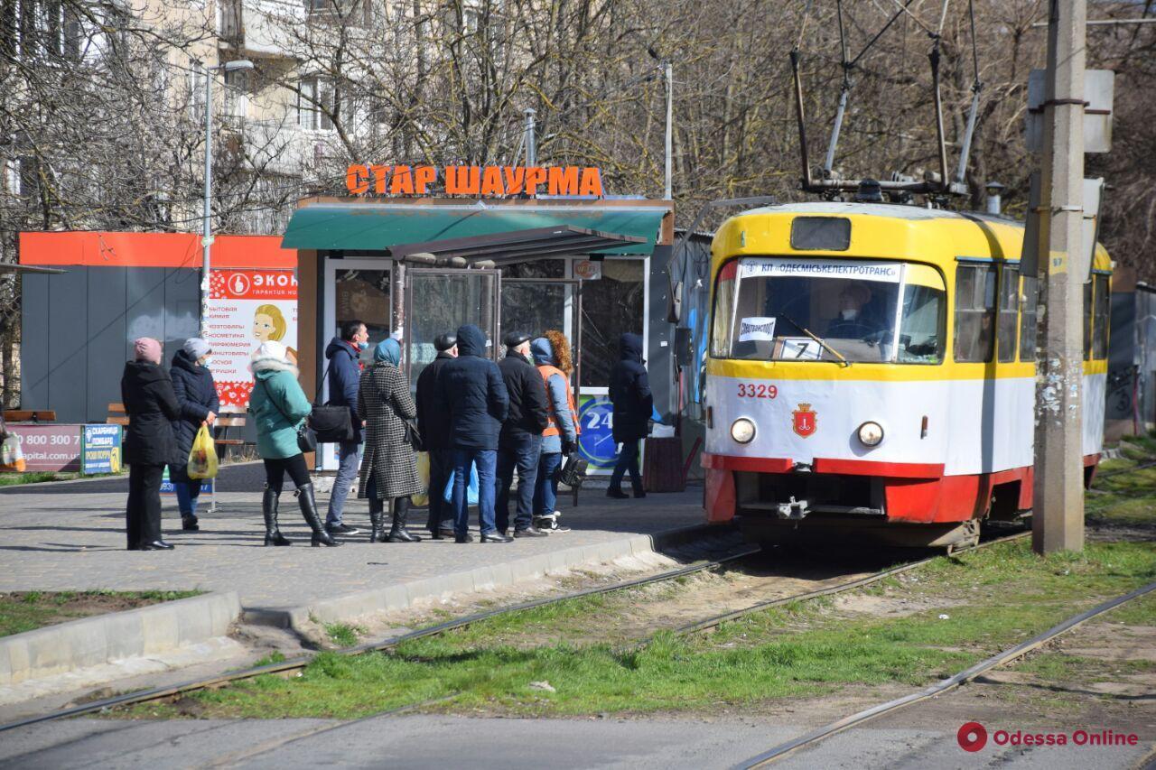 Одесса. Транспорт в режиме ЧС. День первый (фото)