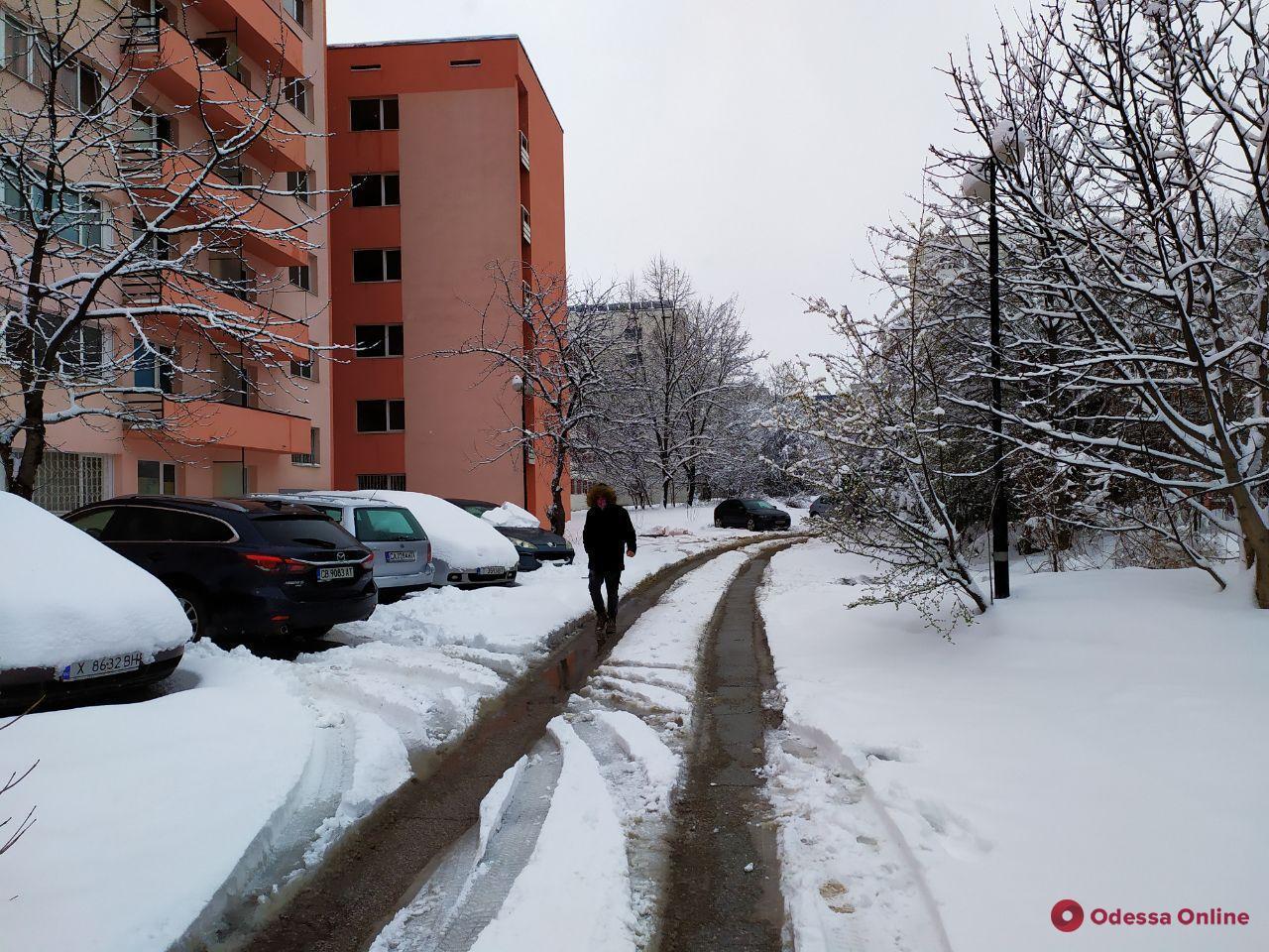 Карантин в Болгарии: снег на улицах, штрафов нет, но люди остаются дома (фото)