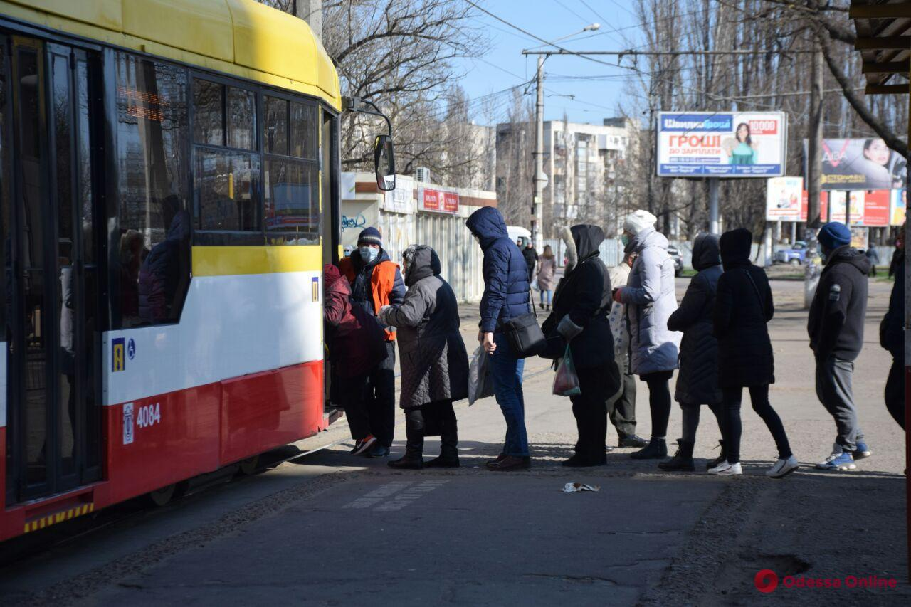 Одесса. Транспорт в режиме ЧС. День второй (фото)