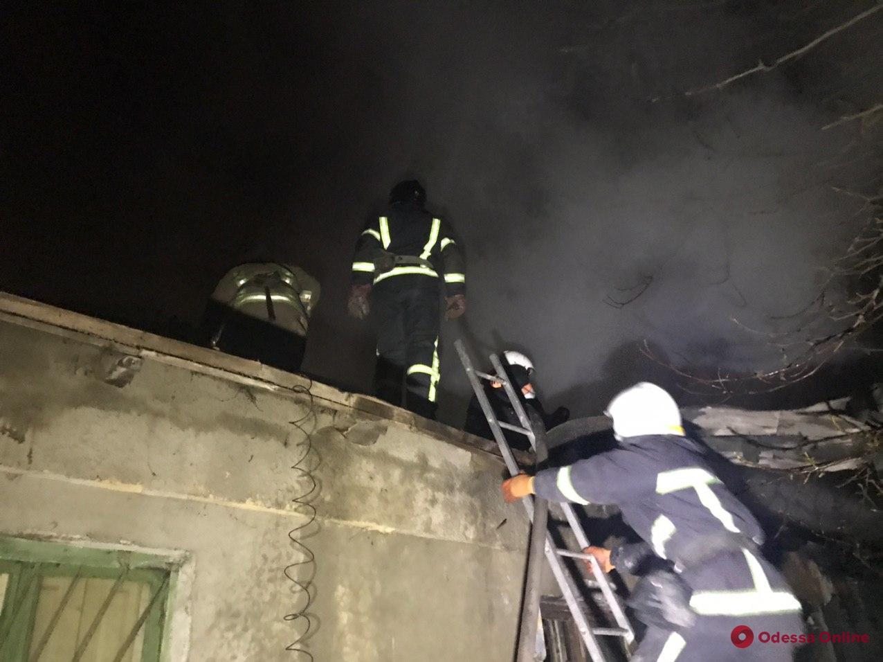 В Одессе горел частный дом (фото)