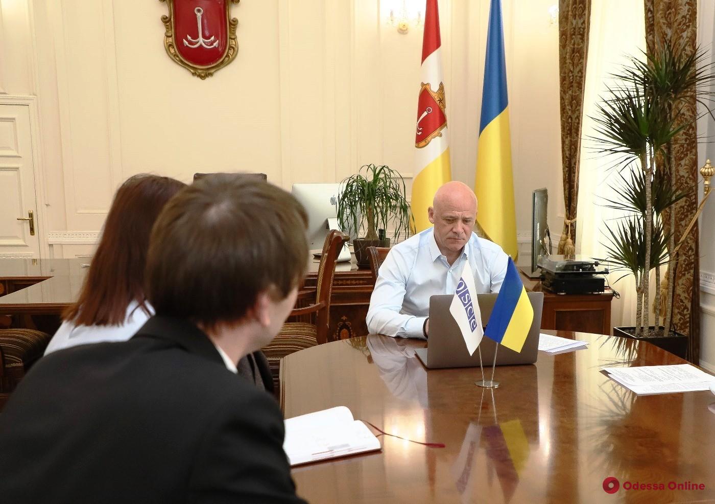 Мэр обсудил ситуацию с коронавирусом с главой представительства миссии ОБСЕ в Одессе
