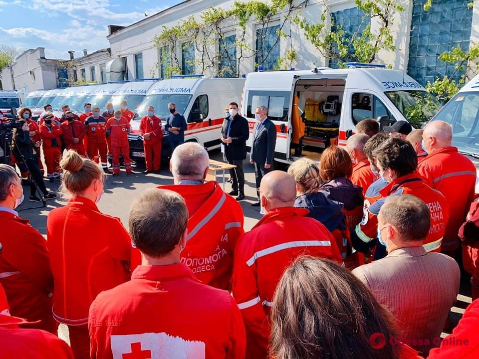 Медики Одесской области получили новые автомобили скорой помощи
