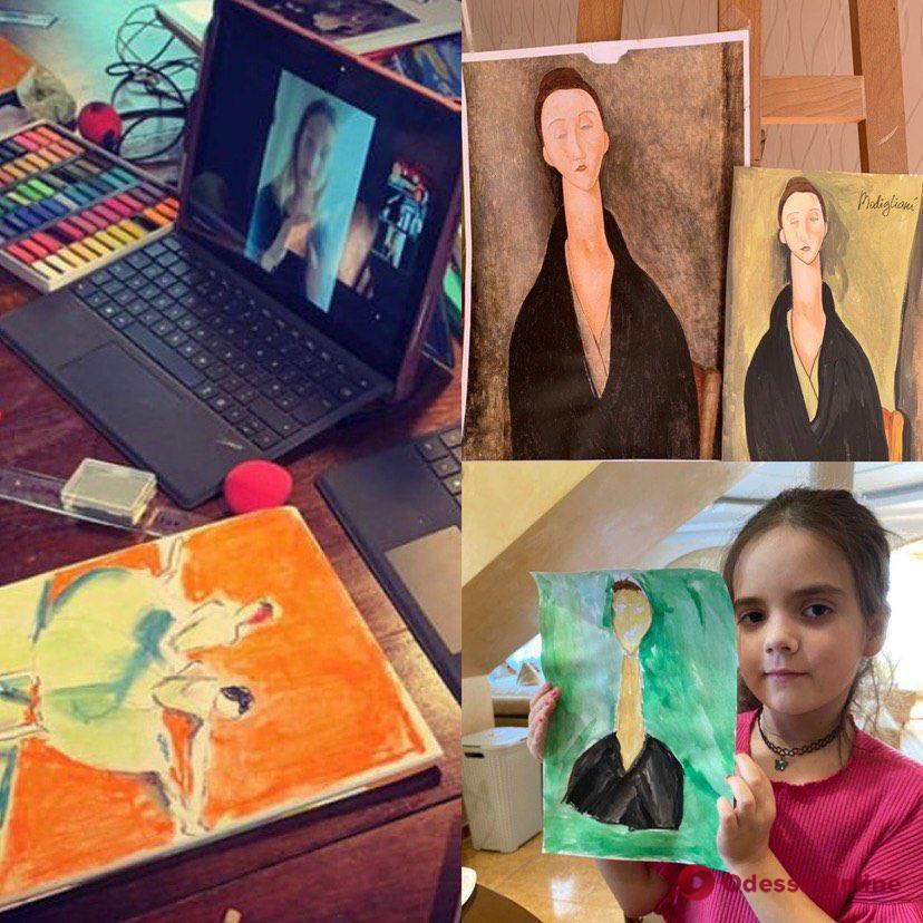 В стиле Ван Гога, Пикассо и Модильяни: автор одесских муралов проводит для детей бесплатные онлайн-уроки по живописи