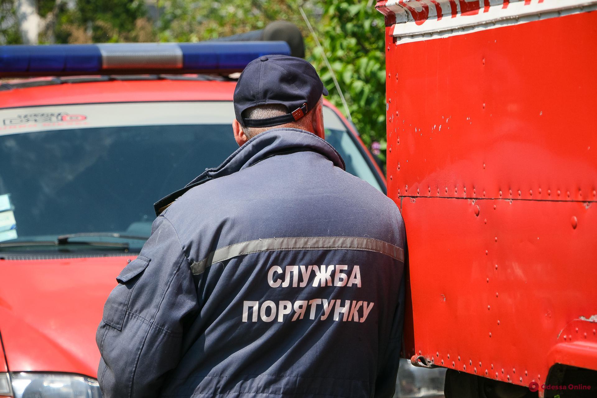 В Одесской области тушили пожар во дворе супермаркета