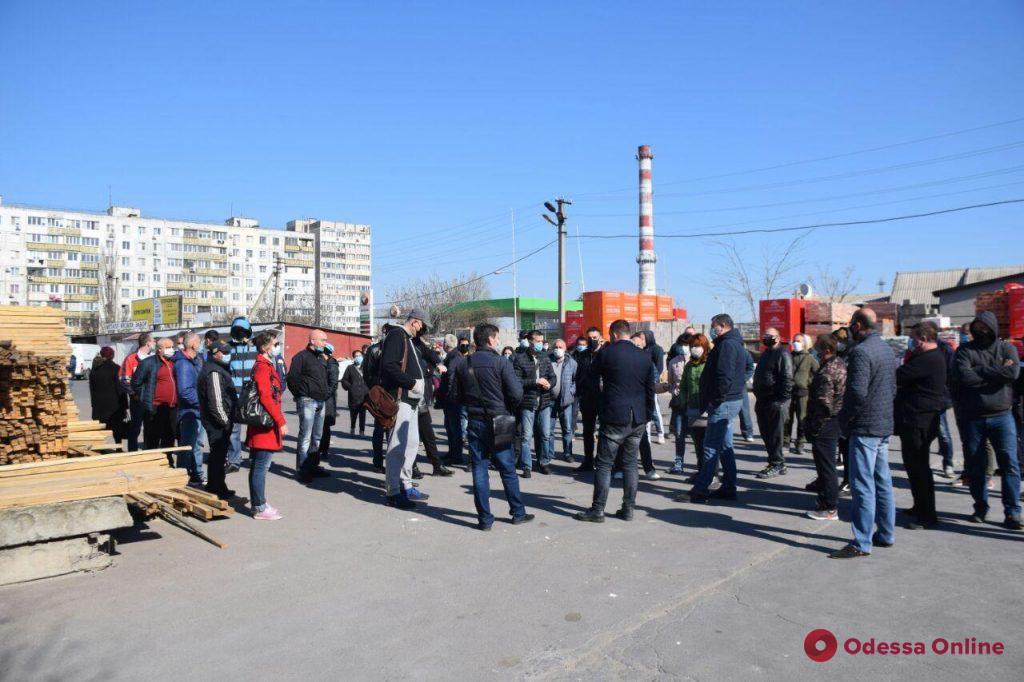 На одном из одесских рынков протестовали предприниматели