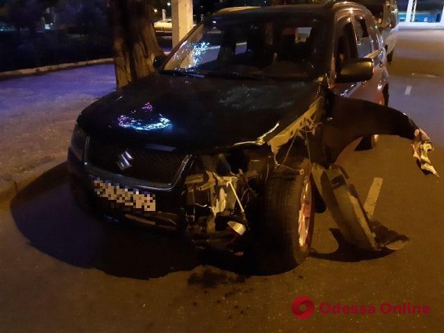 В Одессе пьяный преподаватель-криминалист сбил байкера (видео)