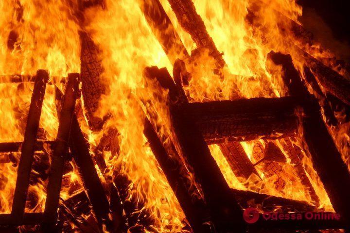 В Одесской области спасатели помогли мужчине выбраться из горящего дома