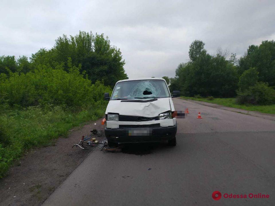 В Одесской области микроавтобус насмерть сбил велосипедиста