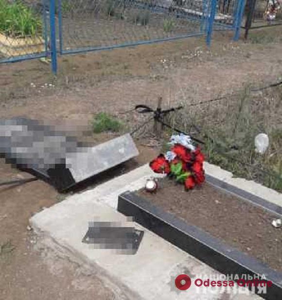 В Одесской области пьяный 19-летний рецидивист устроил погром на двух кладбищах
