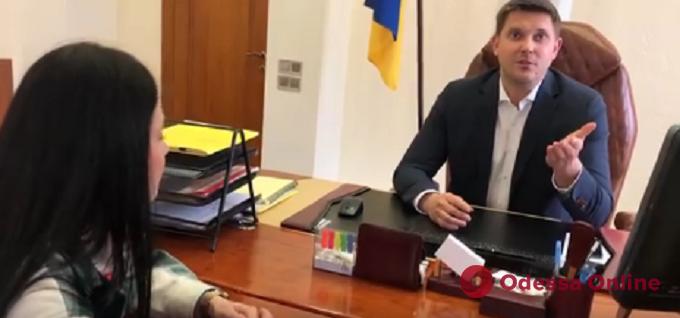 Требовал удалить видеозапись и вызвал Нацгвардию: как одесский губернатор «уходил» от  вопроса  журналистки (видео)