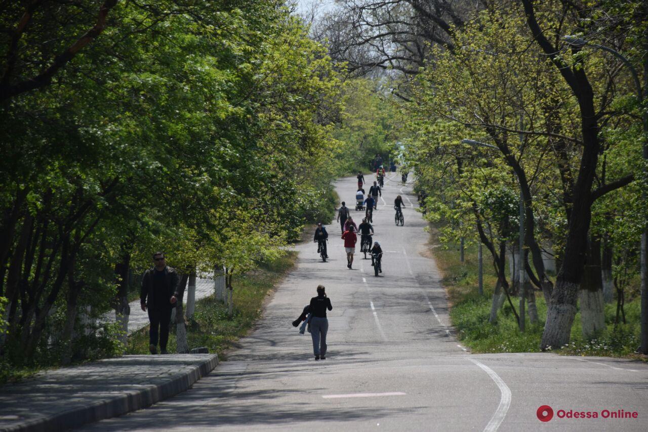 «Карантинная маевка» в Одессе: закрытые подъезды к морю, наряды полиции и минимум пикников (фоторепортаж)