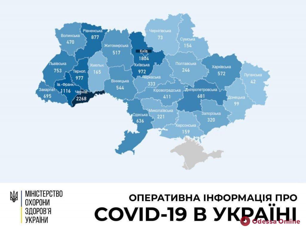 В Одесской области за сутки зафиксировали 17 новых случаев коронавируса
