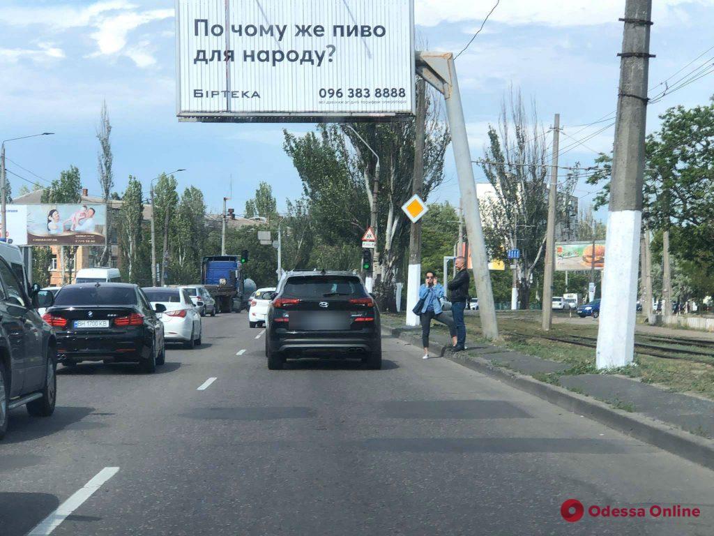 На Николаевской дороге образовалась пробка из-за ДТП