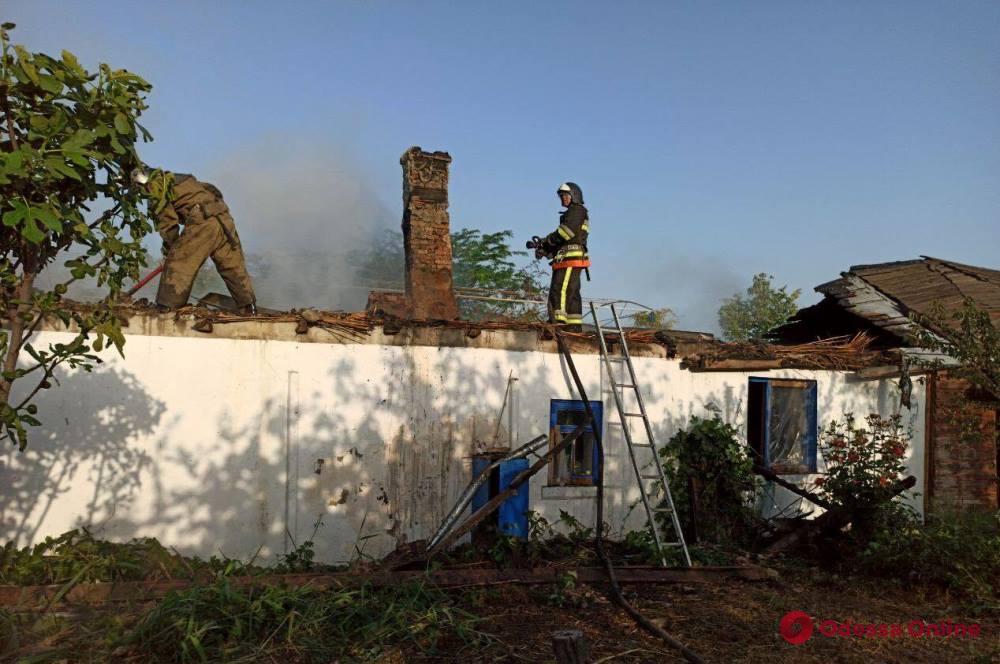 В Одесской области сгорел частный дом