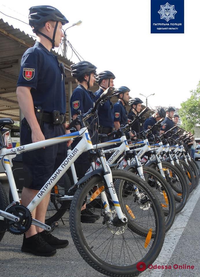 На улицы Одессы вышли полицейские велопатрули (фото)