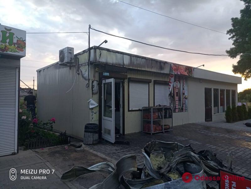 В Фонтанке тушили пожар в продуктовом магазине