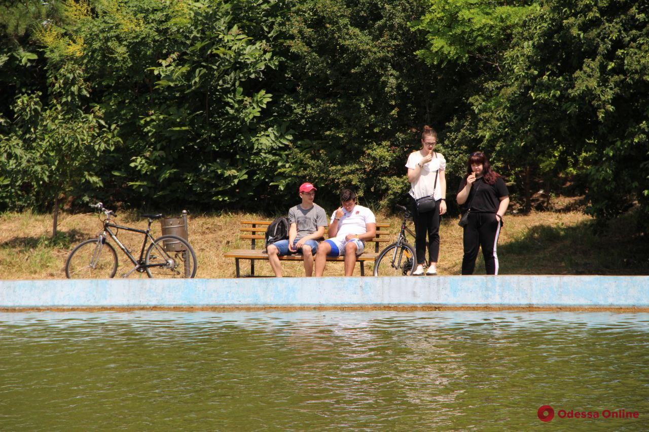Солнечный день в одесском парке Победы (фоторепортаж)
