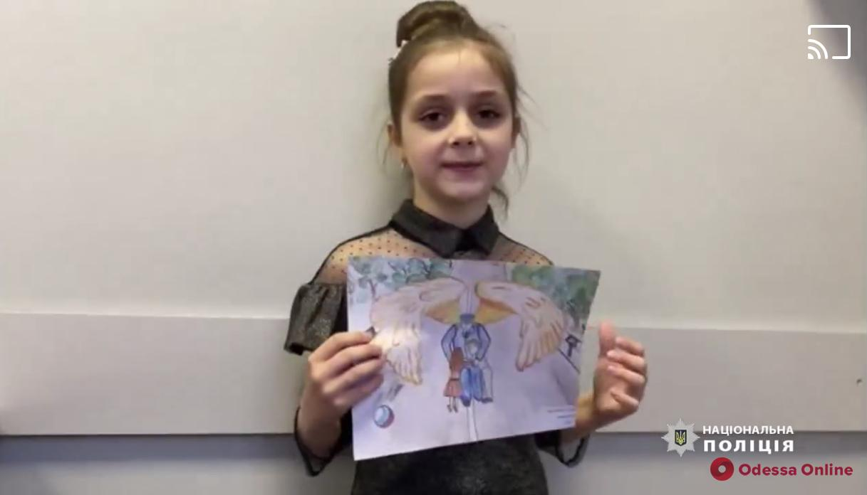 Одесские полицейские поздравили детей трогательным видео