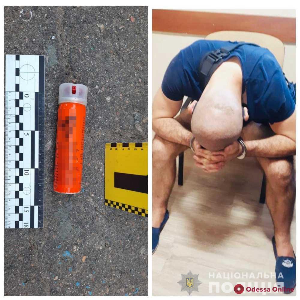 В Лузановке пьяный дебошир ворвался на полицейскую станцию и распылил газ