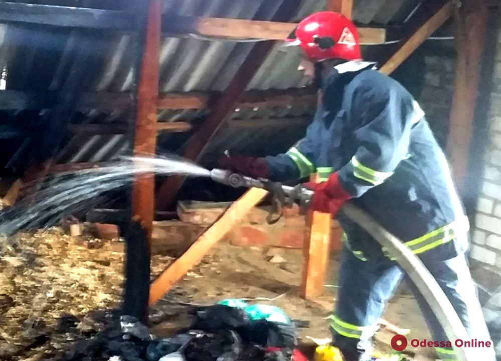 В Одесской области горел частный дом
