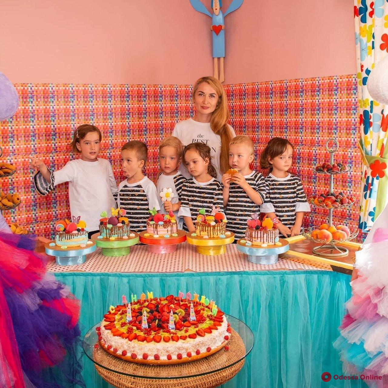 Одесские пятерняшки отметили четвертый День рождения (фото, видео)