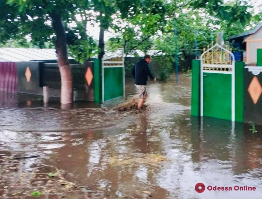 Последствия непогоды на юге Одесской области: подтопленные дома и оборванные линии электропередач