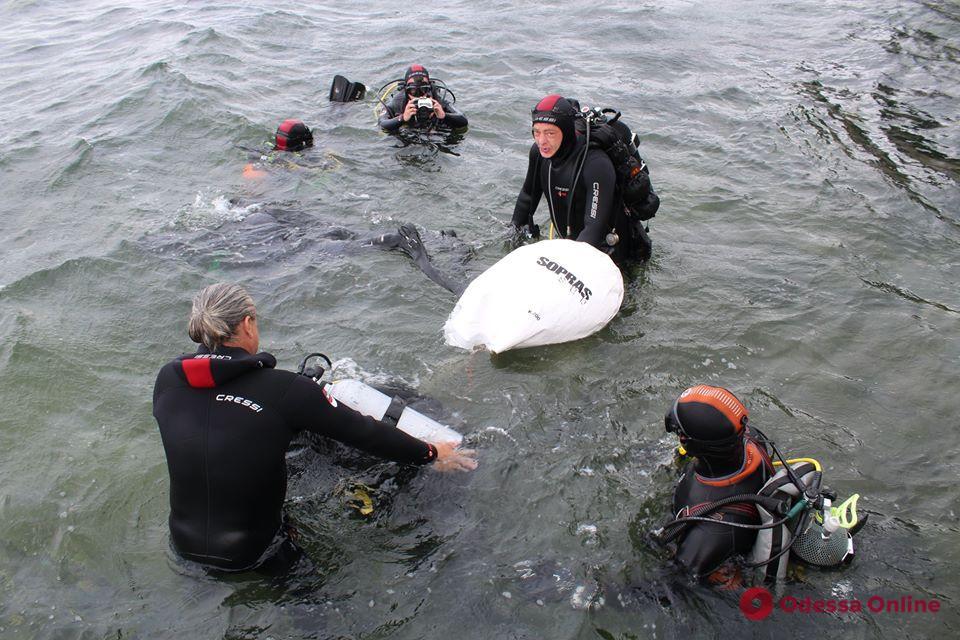 На дне моря возле одесского пляжа дайверы нашли пулемет «Максим» (фото)