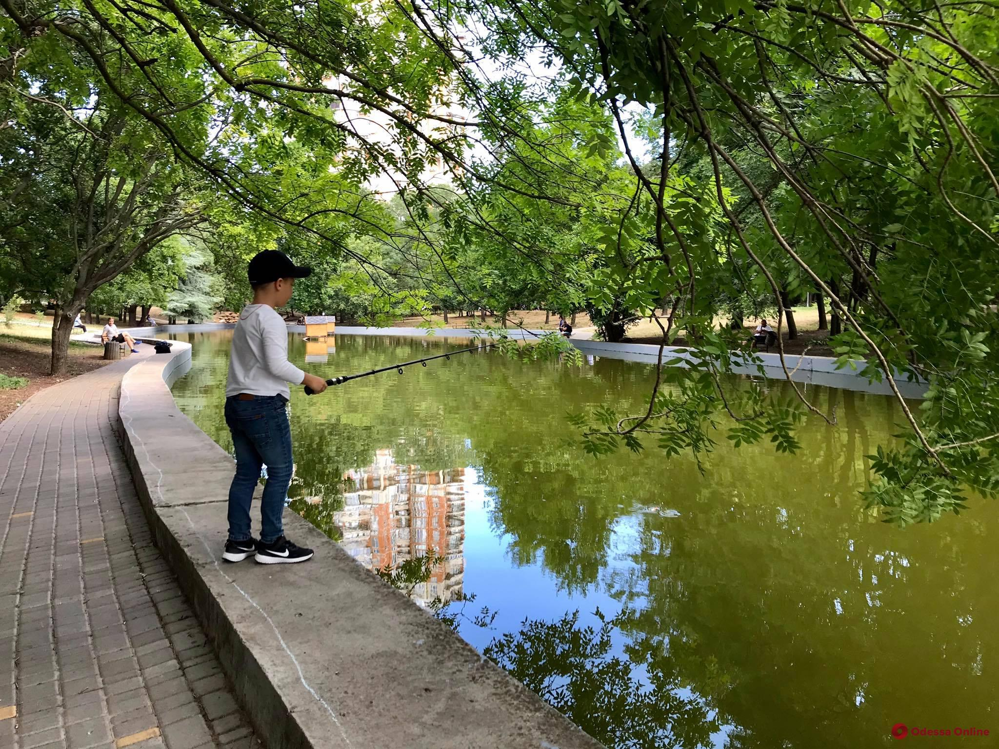 В одесском парке детям разрешили рыбачить (фото)