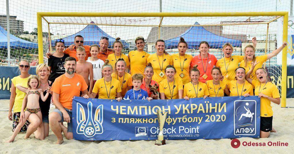 Футбол и красота: в Одессе состоялся чемпионат Украины по пляжному футболу среди женских команд